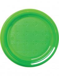 Muovilautaset, vihreä