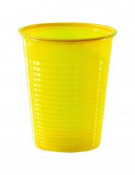 50 keltaista muovikuppia, 20 cl