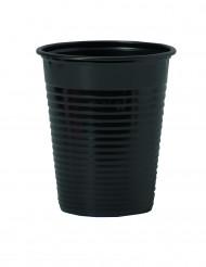 Mustat muoviset mukit 20 cl - 50 kpl