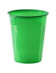 50 vihreää muovikuppia, 20 cl