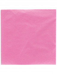 Fuksianpunaiset paperilautasliinat 38 x 38 cm - 50 kpl
