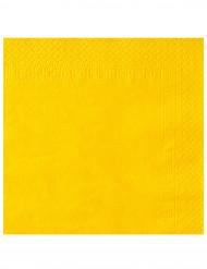 Keltaiset lautasliinat 38 x 38 cm - 50 kpl