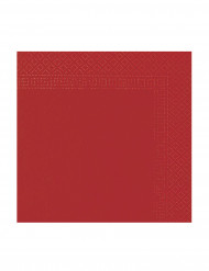 Punaiset paperilautasliinat 38 x 38 cm - 50 kpl