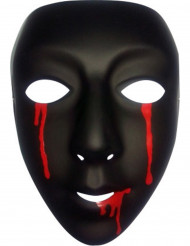 Musta naamari verikyynelillä