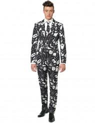 Miesten Halloween Mr. Icons Suitmeister™- puku mustalla printillä