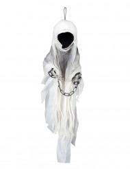 Valkoinen viikatemieskoriste Halloween