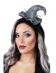 Naisten panta minikokoisella hopeanvärisellä noidan hatulla - Halloween
