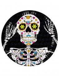Dia de los muertos -pahvilautaset 6 kpl