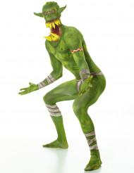Aikuisten vihreä örkki Halloween second skin Morphsuits™ naamiaispuku