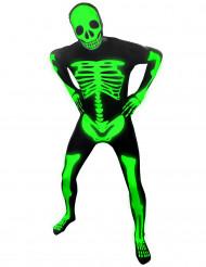 Aikuisten Halloween pimeässä hohtava luuranko-naamiaisasu Morphsuits™