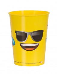 Keltainen muovimuki Emoji™-kasvoilla