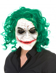 Aikuisten Halloween-lateksinaamari - psykopaattinen harlekiinihahmo