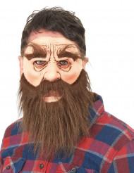Aikuisten lateksinen naamari Parrakas mies