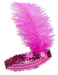 Pinkki hiuspanta
