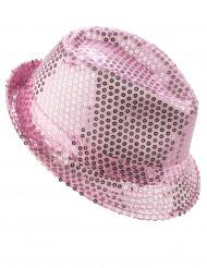 Hailakan vaaleanpunainen paljettikoristeltu panamahattu aikuisille