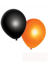 Halloween pallot - 10 oranssia ja mustaa ilmapalloa