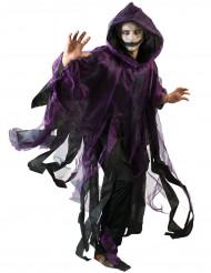Violettimusta viitta halloweenjuhliin