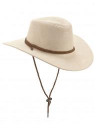 Mokkapintainen beigenvärinen cowboy-hattu aikuisille