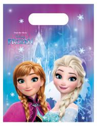 Lumihiutaleilla koristellut Frozen™-lahjapussit - 6 kpl