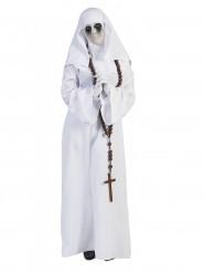 Valkoinen nunna-asu naiselle