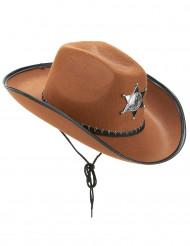 Ruskea Sheriffin hattu aikuisille