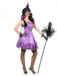 Naisten violetti barokkivampyyri Halloween-asu