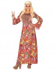 Värikäs hippimekko naisille