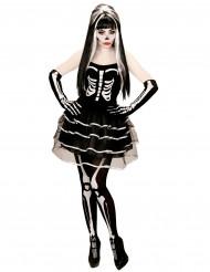 Naisten Halloween luuranko-tutu