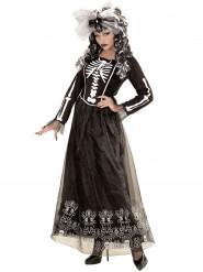 Naisten pitkä Halloween luurankomekko