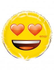 Sydänsilmäinen Emoji™-ilmapallo