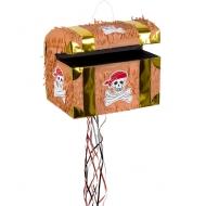 Aarrearkun muotoinen piñata synttärijuhlaan