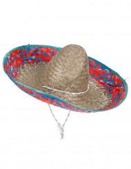 Aikuisten punasininen sombrero