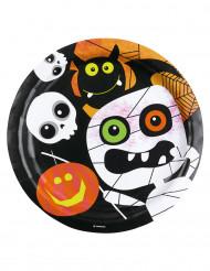 Halloweenlautanen 8 kpl