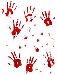 Veriset kädenjäljet - Halloween tarrat