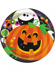 8 Halloween pahvilautasta 18 cm