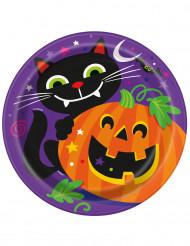 8 Halloween pahvilautasta 23 cm