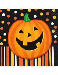 16 Kurpitsaservettiä Halloween