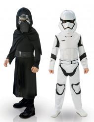 Kylo Renin™ ja Imperiumin iskujoukkojen sotilaan™ naamiaisasusetti lapselle