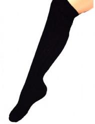Aikuisten pitkät mustat sukat 53 cm