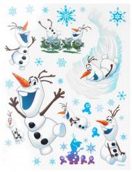Frozen™-ikkunatarra-arkki Olaf™-aiheisilla printeillä - 20 x 30 cm