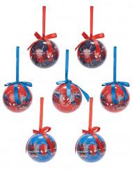 Joulukuusen koristepallot Spiderman™ 7,5 cm - 7 kpl