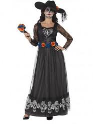 Naisten musta halloween asu morsian