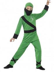Vihreä ninja-asu lapsille
