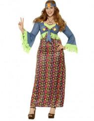 Naisten värikäs hippiasu