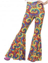 Naisen värikkäät hippihousut
