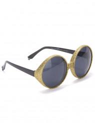 Aikuisten lasit Kultainen pyöreä