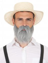 Harmaa parta ja viikset aikuisille