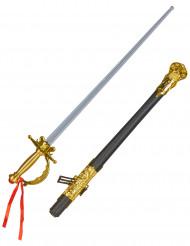 Pitkä, keskiaikainen miekka aikuisille
