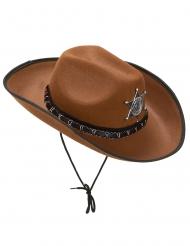 Aikuisten vaalean ruskea Sheriffin hattu