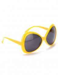 Aikuisten keltaiset silmälasit Disco